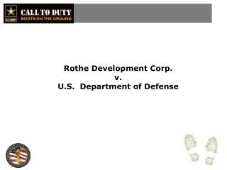 Rothe  Development Corp.  v. U.S.  Department of Defense