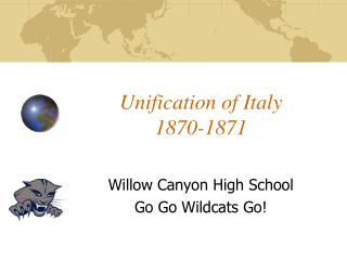 Unification of Italy 1870-1871