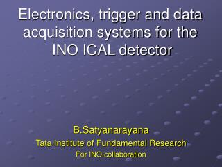 Electronics, trigger and data acquisition systems for the  INO ICAL detector