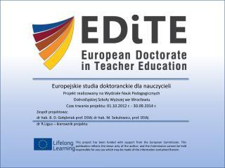 Europejskie studia doktoranckie dla nauczycieli