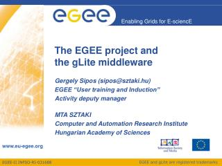 The EGEE project and the gLite middleware