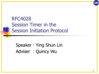 RFC4028 Session Timer in the Session Initiation Protocol