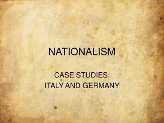 essay about nationalism in italy Nationalism united people into  and italy by garibaldi and  june 15, 2018, from  .