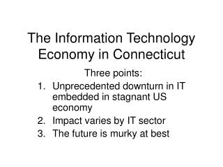 The Information Technology Economy in Connecticut