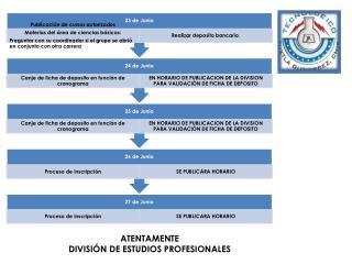 ATENTAMENTE DIVISIÓN DE ESTUDIOS PROFESIONALES