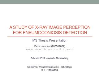 A study of x-ray image perception for pneumoconiosis detection