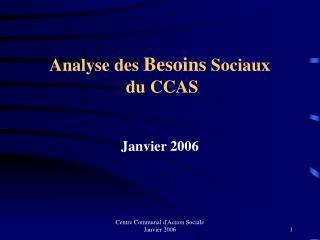 Analyse des  Besoins  Sociaux  du CCAS