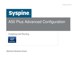 A50 Plus Advanced Configuration