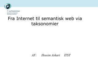 Fra Internet til semantisk web via taksonomier