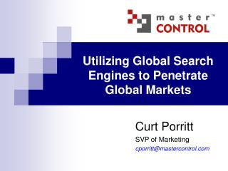 Utilizing Global Search Engines to Penetrate Global Markets