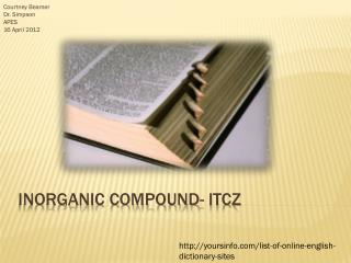 Inorganic compound- ITCZ