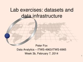 Lab exercises: datasets and data infrastructure