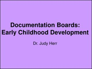 Documentation Boards