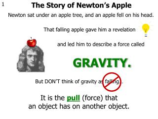 The Story of Newton�s Apple