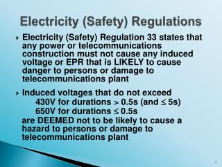Electricity (Safety) Regulations