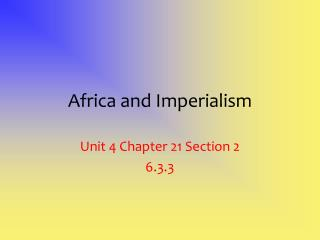 Africa and Imperialism