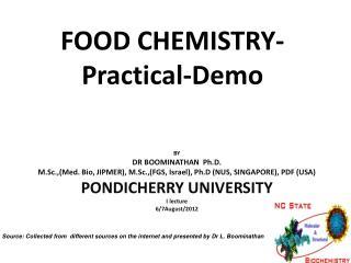 FOOD CHEMISTRY-Practical-Demo