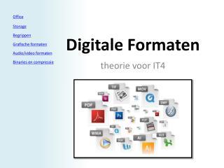 Digitale Formaten