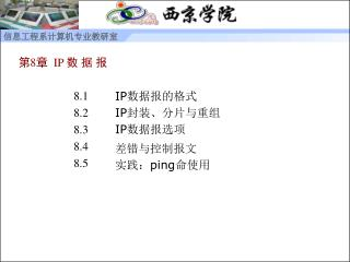 第 8 章   IP 数 据 报