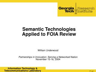 Semantic Technologies Applied to FOIA Review