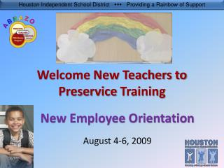 Welcome New Teachers to Preservice  Training