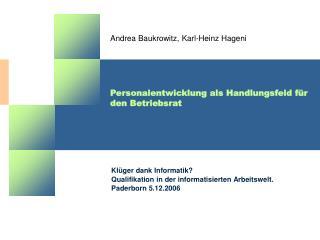 Personalentwicklung als Handlungsfeld für den Betriebsrat