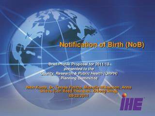 Notification of Birth (NoB)