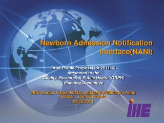 Newborn Admission Notification Interface(NANI)