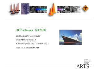 QEP activities / fall 2006 Establish goals for academic year Initiate  MyHumanity  project