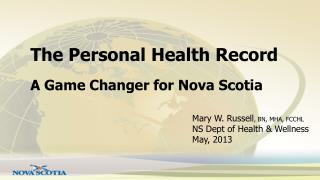 The Personal Health Record
