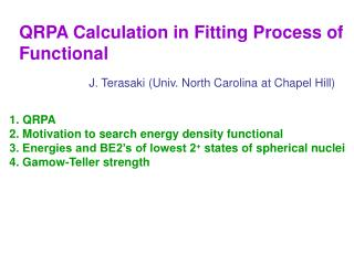 QRPA Calculation in Fitting Process of Functional
