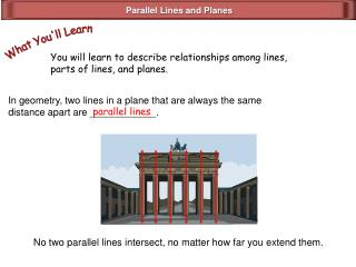 Parallel Lines and Planes