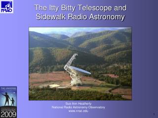 The Itty Bitty Telescope and Sidewalk Radio Astronomy