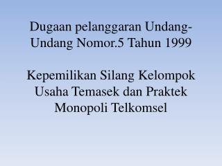 Struktur Pasar Telekomunikasi di Indonesia
