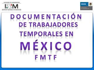Documentación  DE TRABAJADORes TEMPORALES EN México fmtf