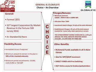 GENERALI & GLOBALEYE Choice – An Overview
