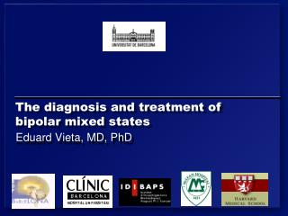 The diagnosis and treatment of bipolar mixed states