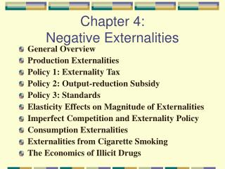 Chapter 4:  Negative Externalities