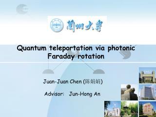 Quantum teleportation via photonic Faraday rotation