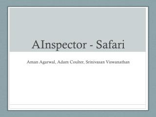 AInspector - Safari