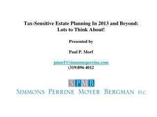 TAX PLANNING FOR MARRIED COUPLES