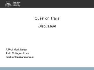 Question Trails Discussion