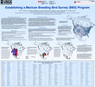 Establishing a Mexican Breeding Bird Survey BBS Program
