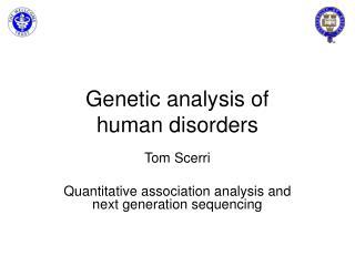 Genetic analysis of human disorders