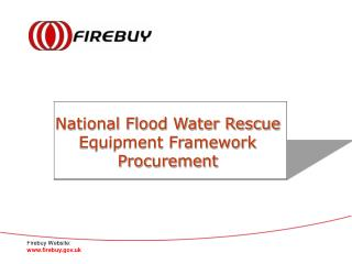National Flood Water Rescue  Equipment Framework  Procurement