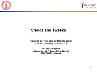 Sferics and Tweeks