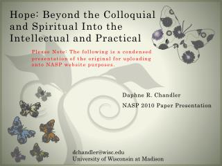 Daphne R. Chandler NASP 2010 Paper Presentation
