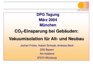 DPG Tagung März 2004 München