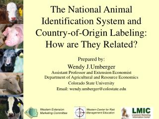 The National Animal Identification System and Country-of-Origin Labeling: How are They Related