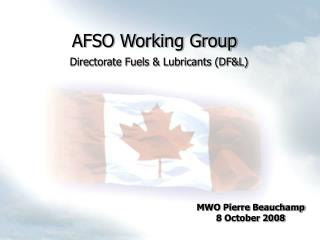 AFSO Working Group